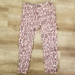 7 for All Mankind 4T Pants leopard print